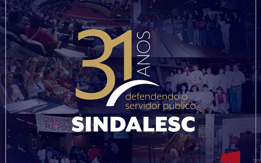 31 anos do SINDALESC – Dia 8 de dezembro