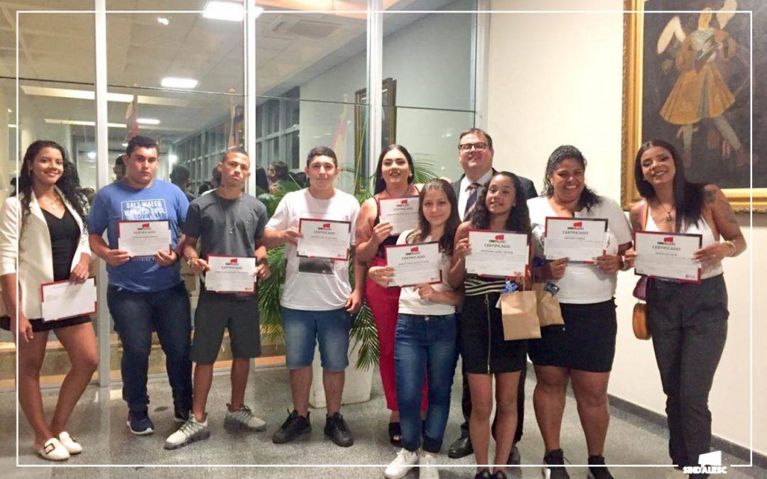 SINDALESC E AFALESC realizam a 2ª edição do Curso de Informática – Educação de Jovens para o Mercado de Trabalho em parceria com a ACAM