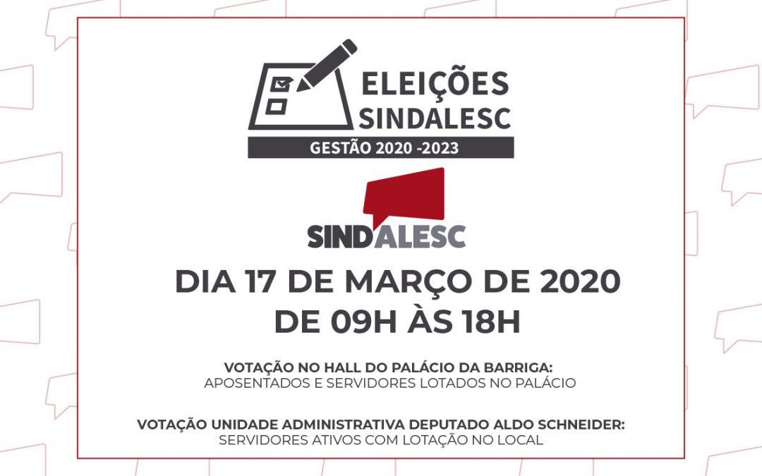 Eleições do SINDALESC acontecerá no dia 17 de março