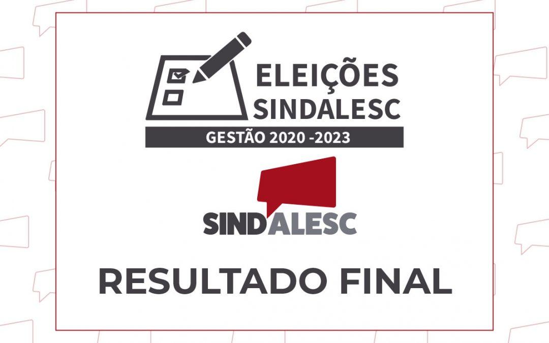 Sindicalizados confirmam chama única na gestão do SINDALESC 2020-2023