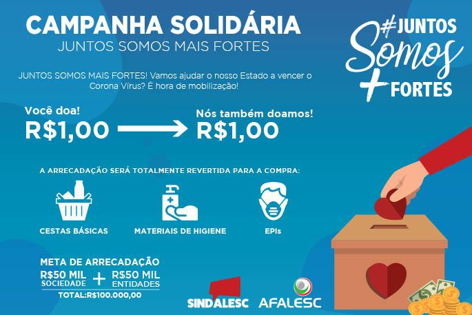 SINDALESC E AFALESC realizam Campanha Solidária