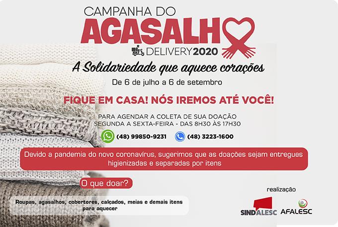 Sindalesc lança a Campanha do Agasalho 2020 Delivery