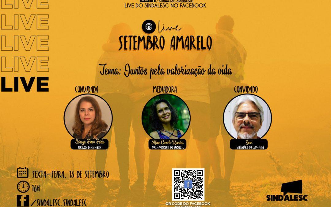 """Live """"Juntos pela valorização da vida"""""""