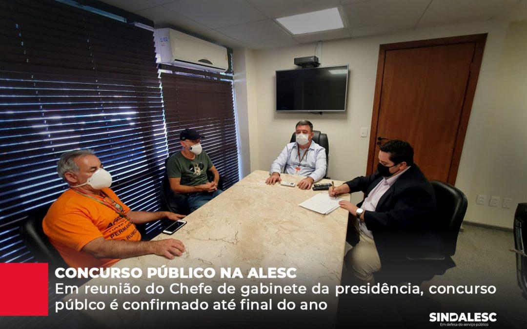 Em reunião com o Gabinete da Presidência, o SINDALESC obteve a confirmação do concurso público