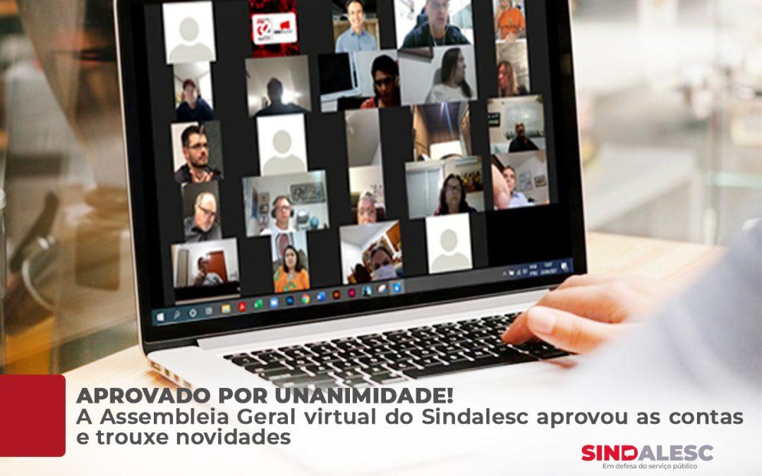 A Assembleia Geral virtual do SINDALESC aprovou as contas e trouxe novidades