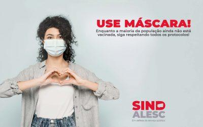Uso de máscara ainda é importante como medida de proteção.