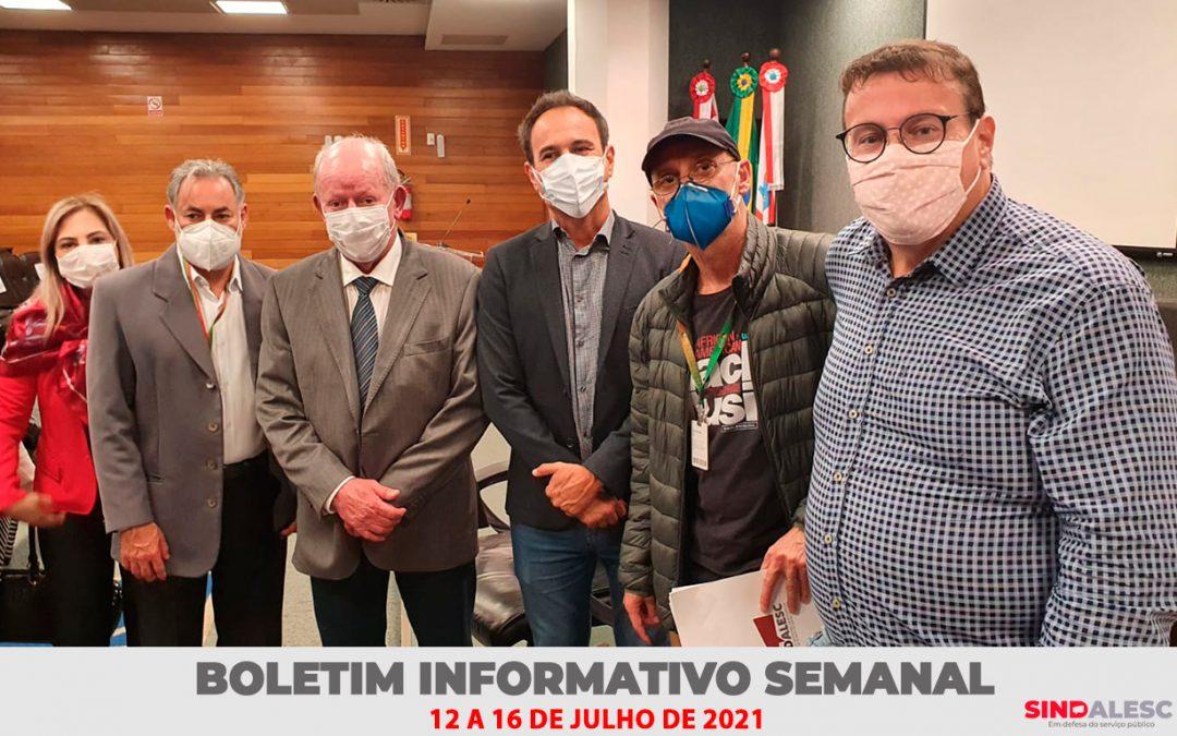 Boletim Informativo Semanal (12 a 16/07)