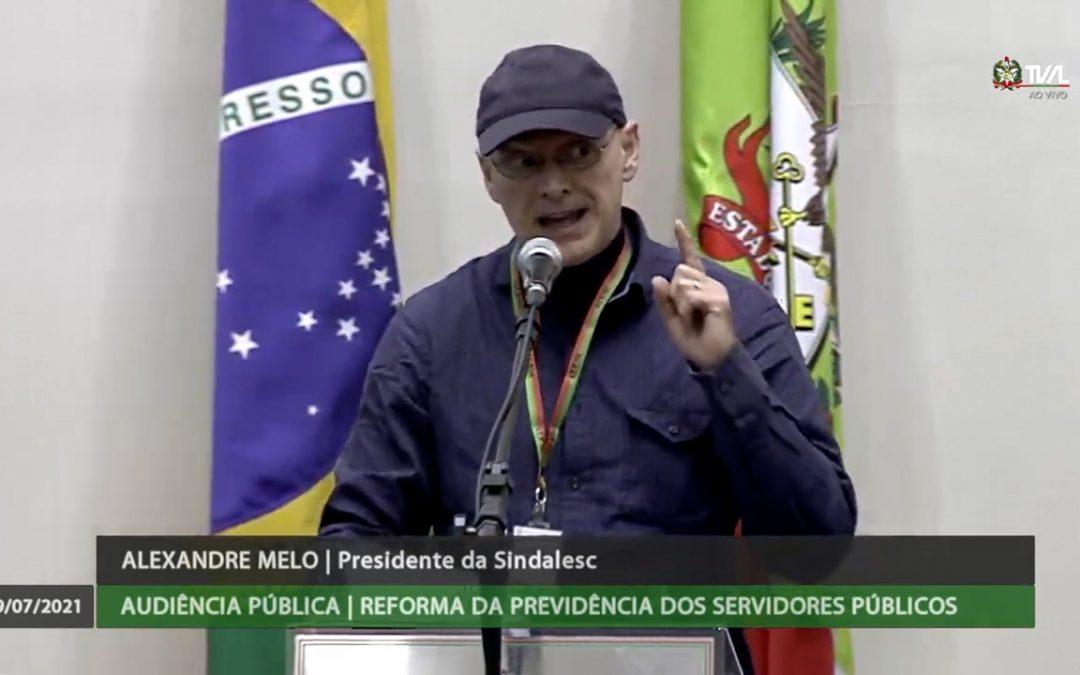 SINDALESC DEFENDE O SERVIÇO PÚBLICO E A PREVIDÊNCIA
