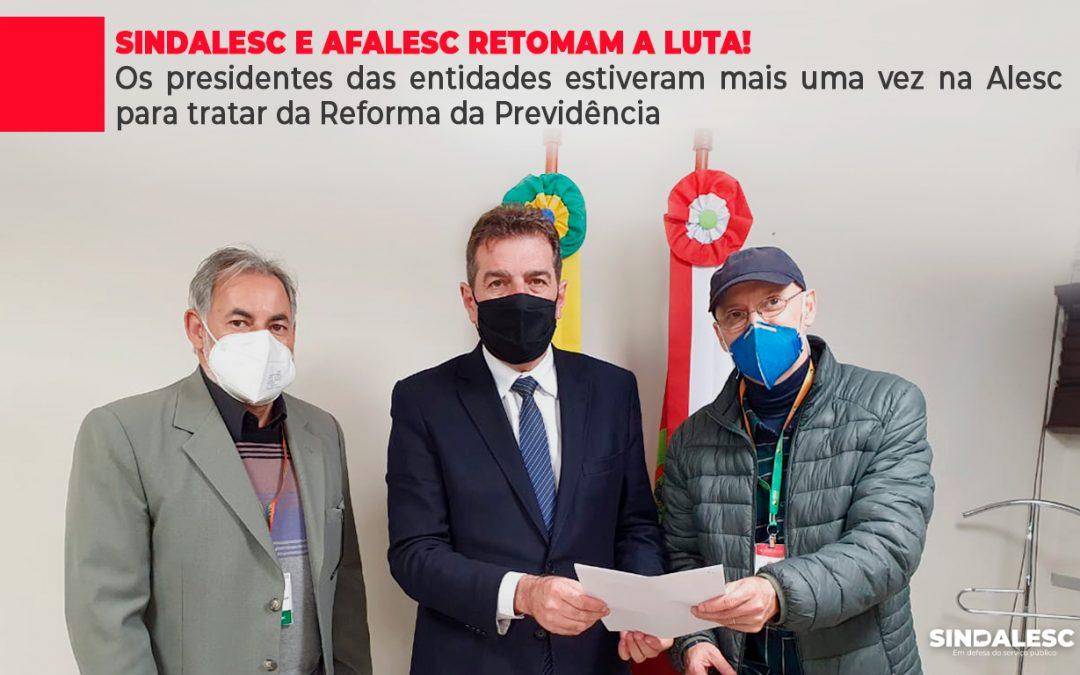 Os presidentes das entidades estiveram mais uma vez na Alesc para tratar da Reforma da Previdência
