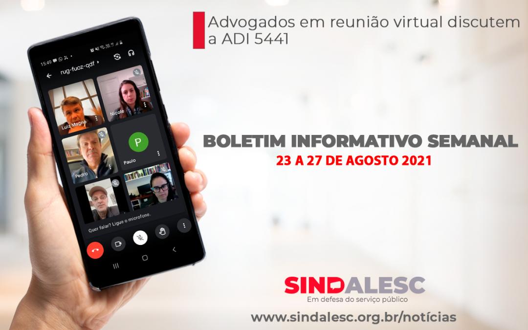 Boletim Informativo Semanal (23 a 27/08)