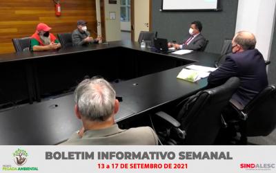 Boletim Informativo Semanal (13 a 17/09)