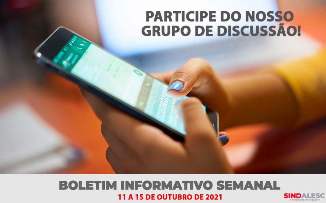 Boletim Informativo Semanal (11 a 15/10)